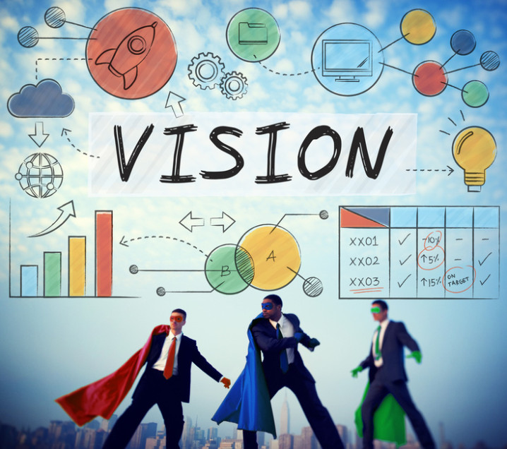 Vision Business Growth Corporate Target Concept